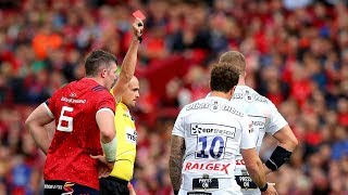 Keith Wood reacts to the Cipriani red card decision vs Munster
