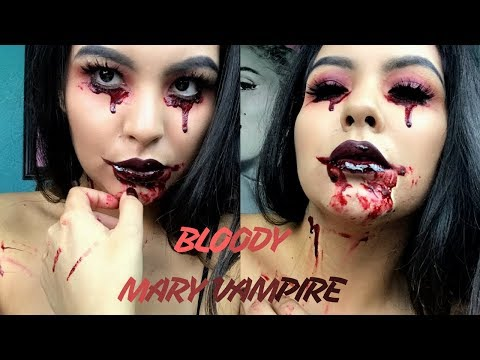 EASY HALLOWEEN MAKEUP | BLOODY MARY VAMPIRE | BLOODY HALLOWEEN MAKEUP