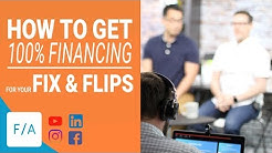 How To Get 100% Financing on Fix and Flip Loans - #FINANCEAGENTS LIVE! 042