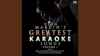 I Wish You Love (In the Style of Dean Martin) (Karaoke Version)