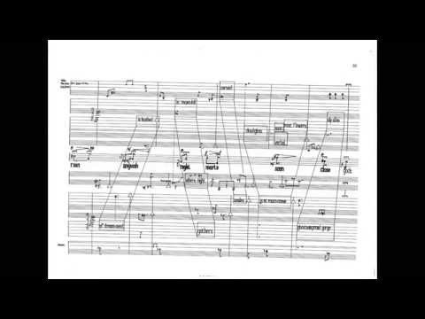 Luciano Berio - Circles /w score (for female voice, harp and 2 percussionists) (1960)
