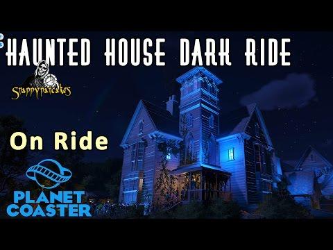 Creepy Haunted House Dark Ride - On Ride - Planet Coaster [4k 60fps]