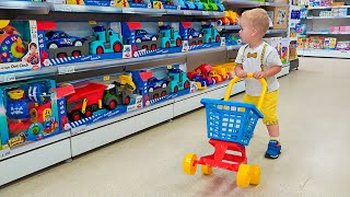 Little Chris pretend play with toys  best videos with small brother