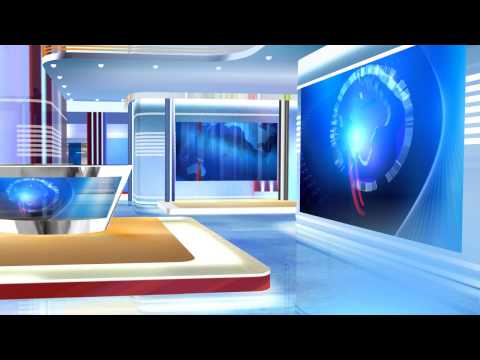 3d virtual sets free virtual news studio background red and blue HD