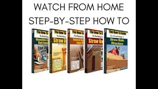 Strawbale.com: Frame Your Own Straw Bale House And Save Time And Money