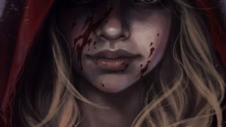 Photoshop digital art making-of: Red Riding Hood by Olga AsuROCKS Andriyenko