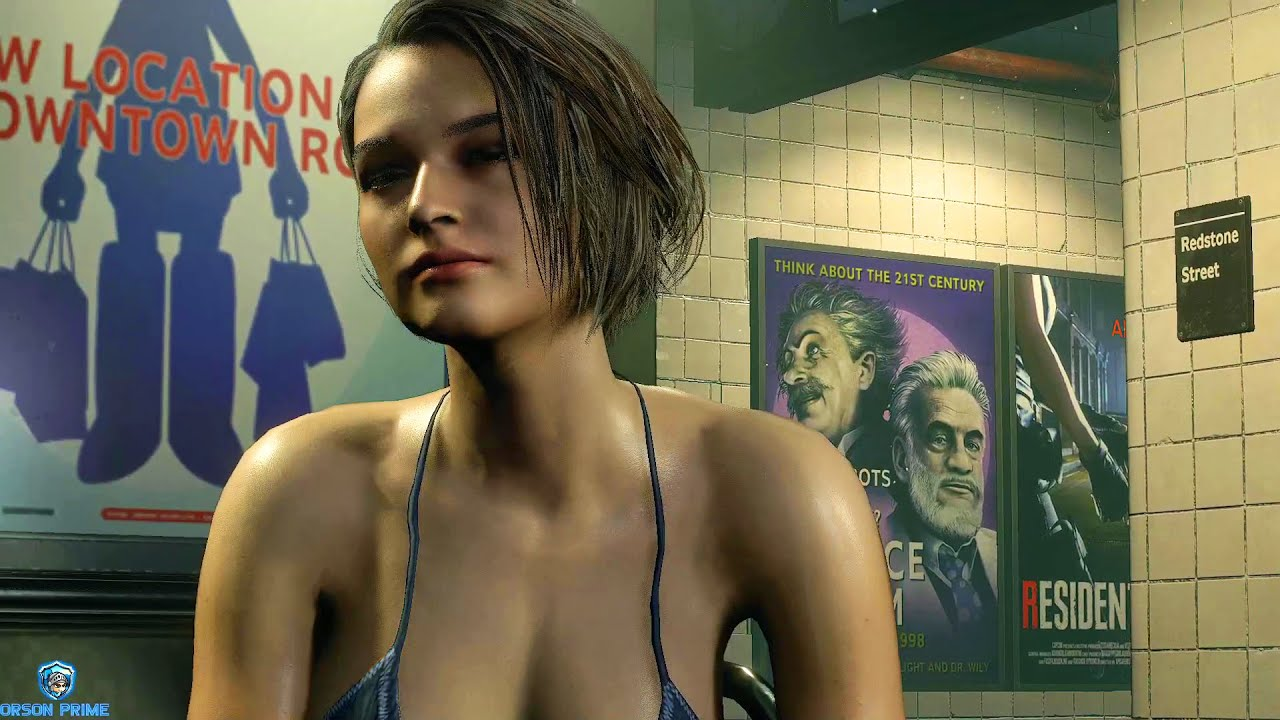 Resident Evil 3 Remake Jill Greased Bikini Gameplay Youtube