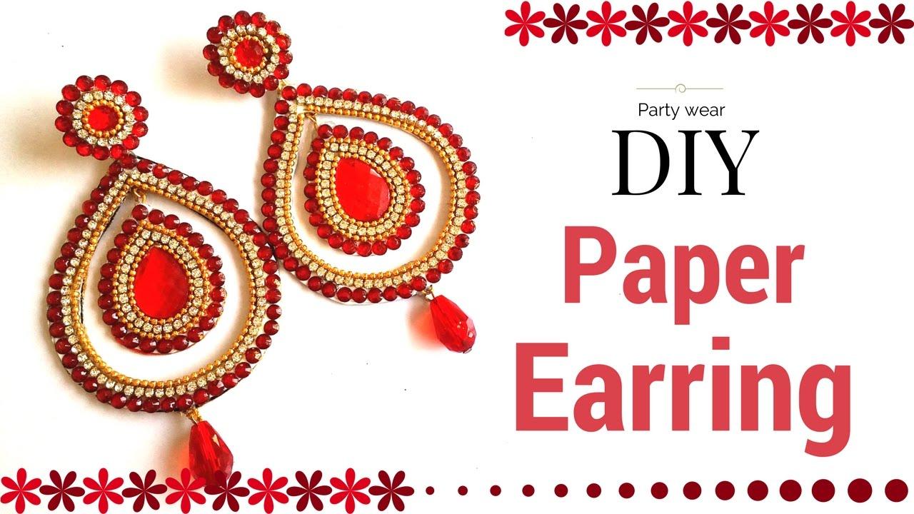 Beautiful Paper Earrings Designs Making Tutorial Simple Easy