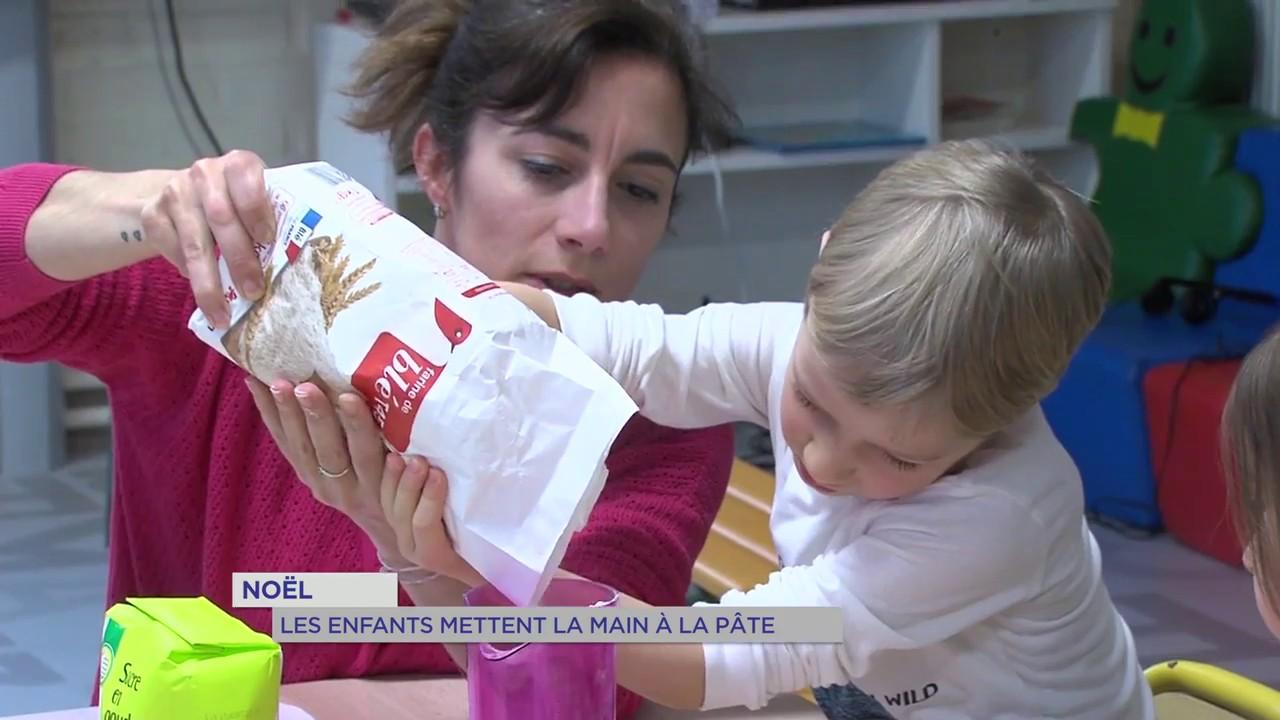 Noël : les enfants mettent la main à la pâte