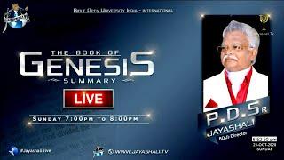 JAYASHALI.TV || 25-10-2020 || GENESIS