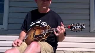 "Sorensen Sprite Two-Point mandolin.  Randy Jones, ""Southern Flavor"""