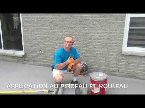 peinture sur terrasse de b ton texnov entrepreneur peintre ext rieur qu bec youtube. Black Bedroom Furniture Sets. Home Design Ideas
