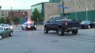 HotRodPowerTour-Muskegon Burn Out - Cops