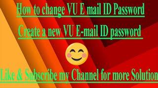 So ändern Sie VU E-mail-ID, Kennwort - Erstellen Sie eine neue VU E-mail-ID Passwort-Ändern-VU-G-mail-ID Passwort