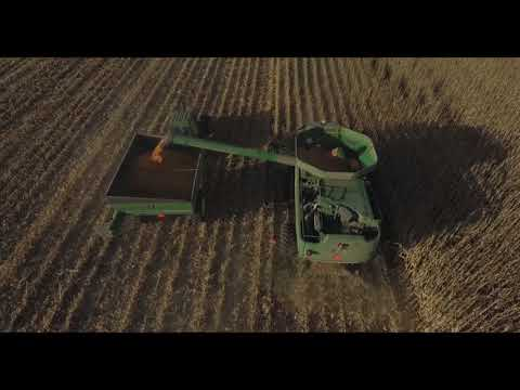 Drone Footage| Harvest  in Amherst, Nebraska 2017