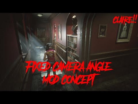 Resident Evil 2 Remake [FIXED CAMERA ANGLE MOD CONCEPT] [CLAIRE!!]