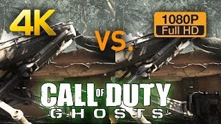 4K vs 1080p Graphics Comparison - Call of Duty Ghosts