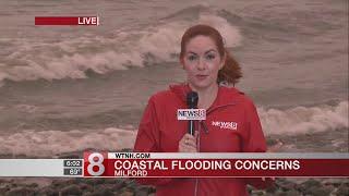 Coastal flooding concerns in Milford