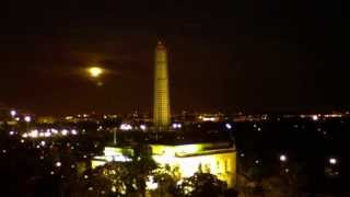 Time-lapse of the Supermoon Rising over the Washington Monument