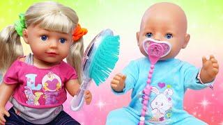 Новые мультики с Baby Bon - Причёски для БЕБИ БОН и сестрички! Игры для детей в видео с куклами
