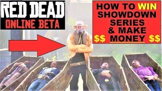 Red Dead Online , How to WIN Showdown series & make Money , Deathmatch Tips , how to shoot better
