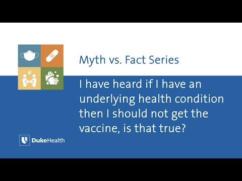 Should I Get the COVID-19 Vaccine if I Have an Underlying Health Condition?
