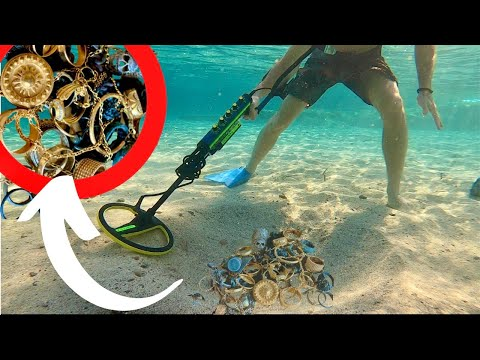 Can't Believe How Much GOLD I Found! Underwater Metal Detecting (Best Finds 2020)