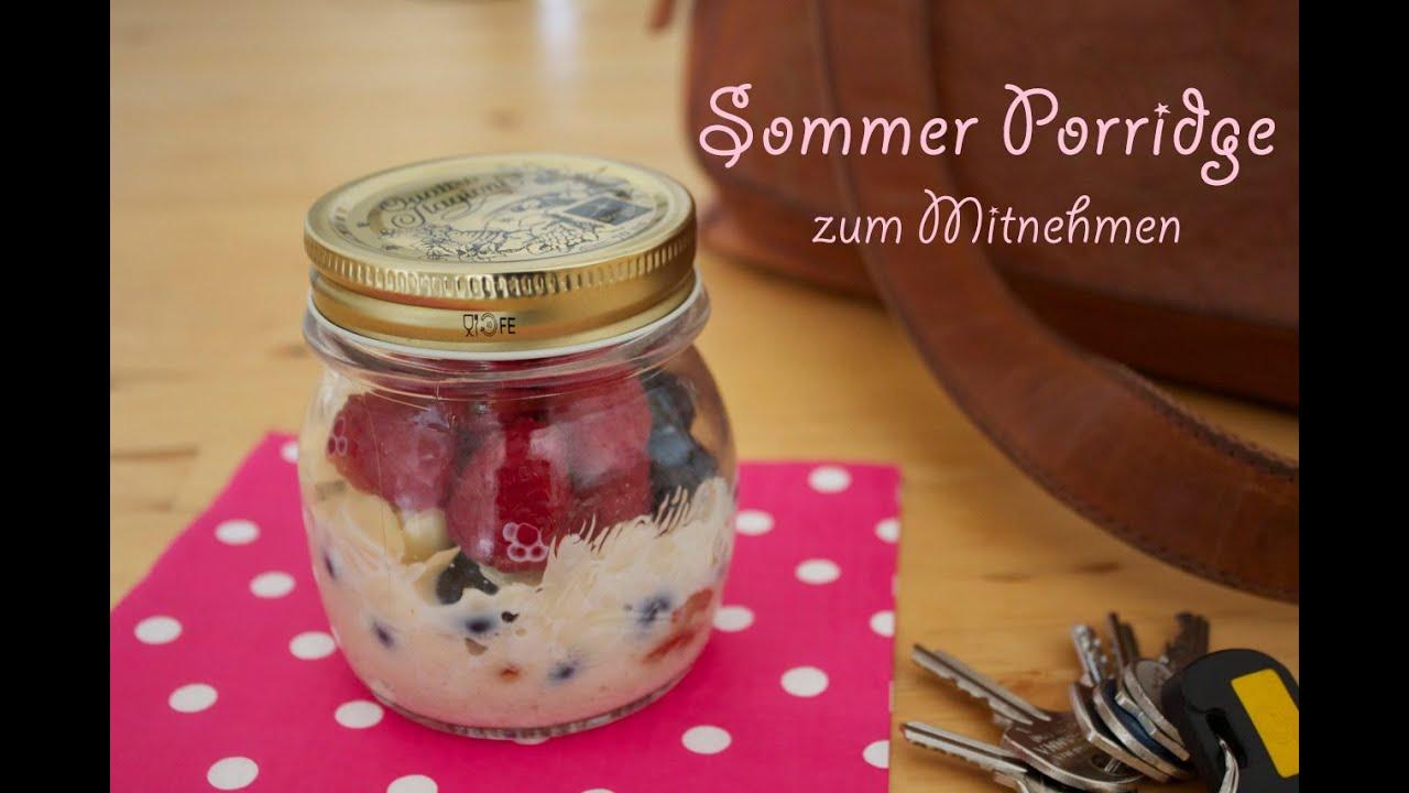 rezept sommer porridge fr hst ck zum mitnehmen mit. Black Bedroom Furniture Sets. Home Design Ideas