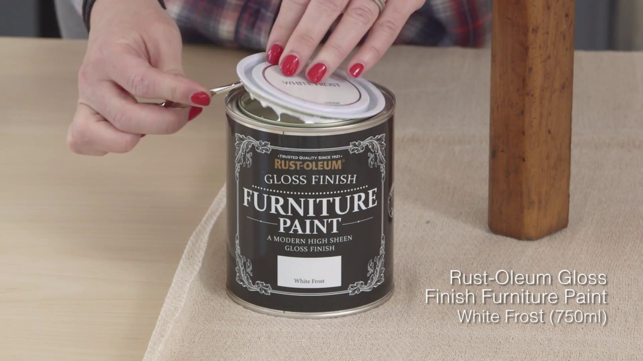 How To Use Rust Oleum Gloss Finish Furniture Paint