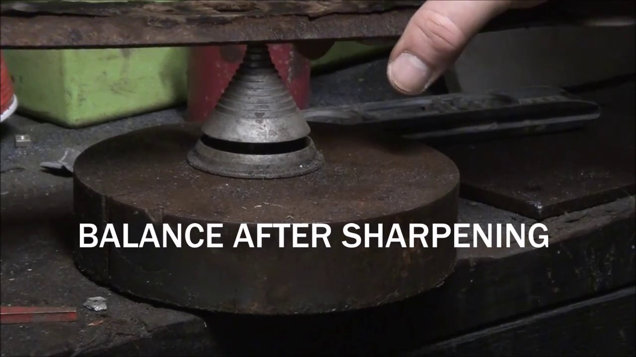 HOW TO BALANCE a Lawnmower BLADE after Sharpening. BALANCING a ...
