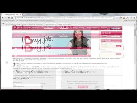 Burlington Coat Factory Application Online Video