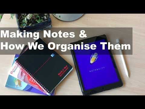Making Notes I Apps + Organisation I Medical School