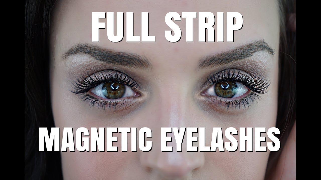 Full Strip Amazon Magnetic Eyelashes Youtube
