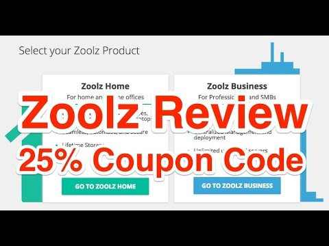 Zoolz Review and 25 Coupon Code Discount - YouTube