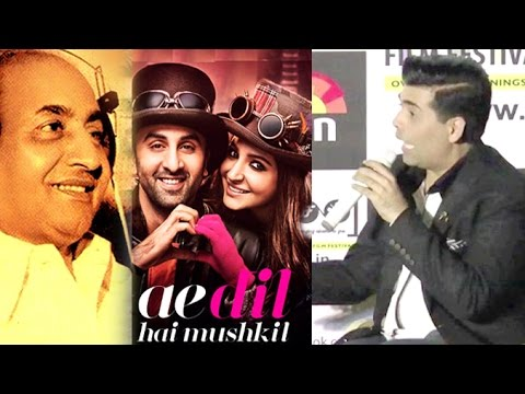 Karan Johar Finally Replies On Mohammed Rafi's INSULT In Ae Dil Hai Mushkil Movie