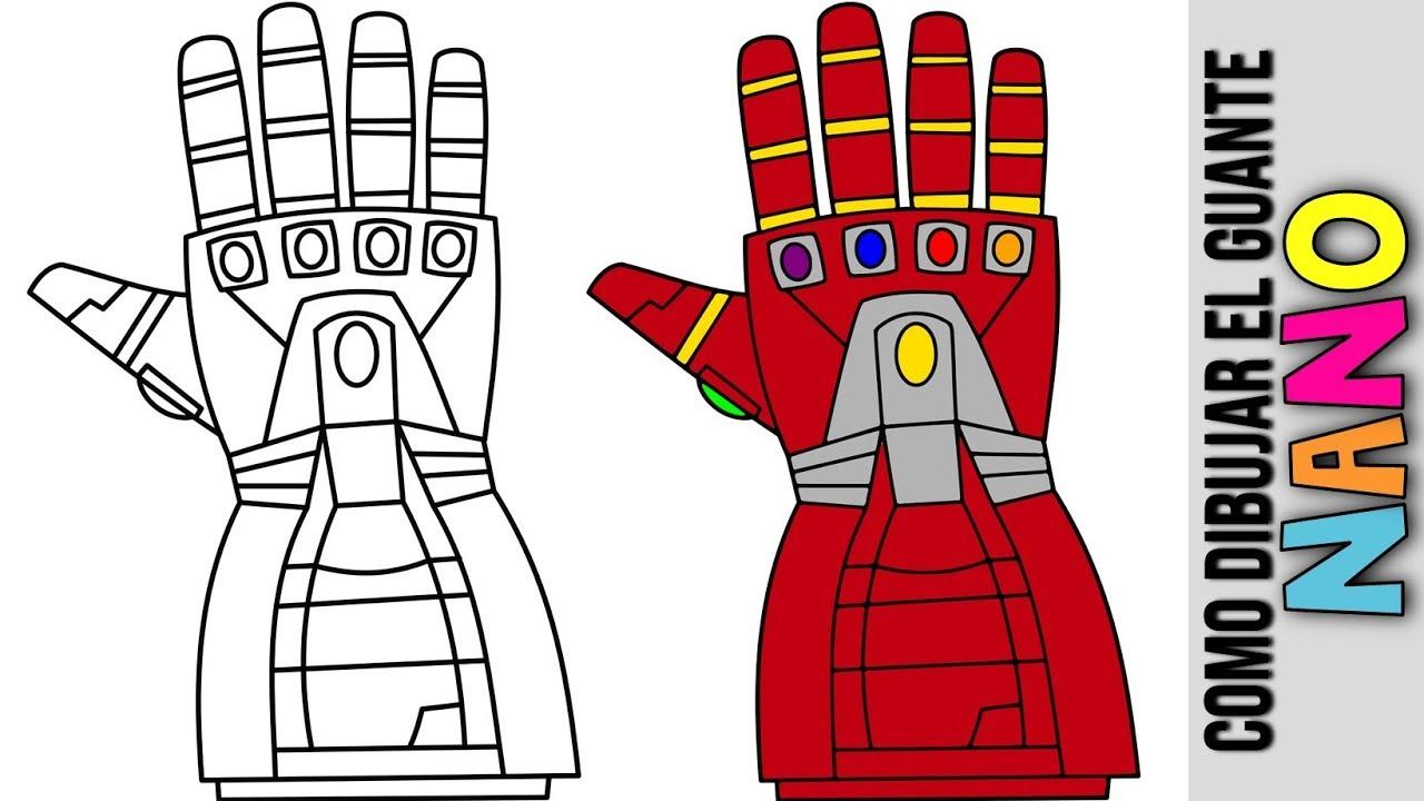Como Hacer Nano Guantelete De Iron Man Dibujado Nano Guantlet Avengers Endgame Vengadores