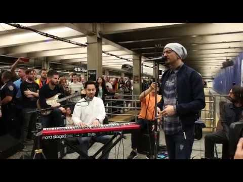 """Linkin Park LIVE in Grand Central Station: """"Crawling"""""""
