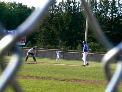 Alex Finke reaches base on a bunt vs. Onalaska