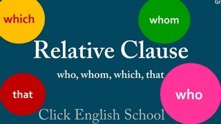 English Grammar - Learn How to Use Relative Clauses in English Online