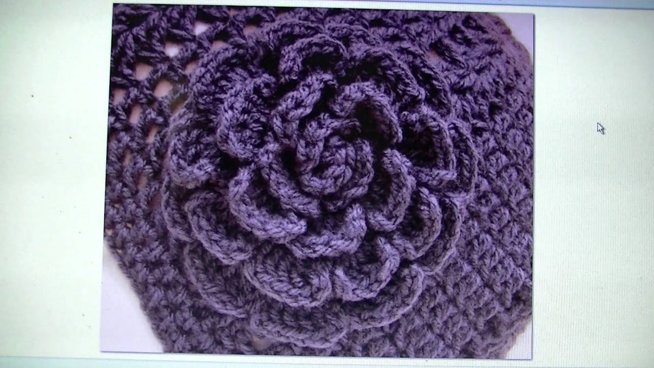 Large Crochet Rose Pattern Free : Easy Crochet Rose - FREE WRITTEN PATTERN - YouTube