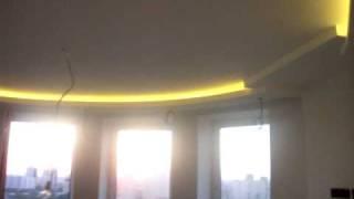 Подсветка потолка, светодиодная лента 5060 WW(На данном потолке использована светодиодная лента 5060 30led 6W 210Lm 12V WW - теплый белый и 2 источника питан..., 2010-05-21T08:05:45.000Z)