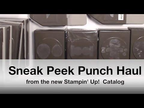 Sneak Peek Stampin' Up! 2019 Annual Catalog : Punch Haul!
