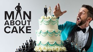 Old School Wedding Cake with a New School Twist | Man About Cake