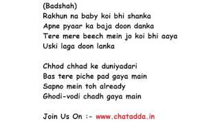 TAMMA TAMMA Again Lyrics Full Song Lyrics Movie - Badrinath Ki Dulhania
