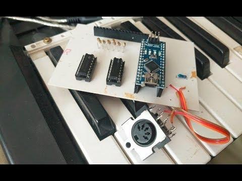 Broken Keyboard Turned MIDI (With Custom PCB)