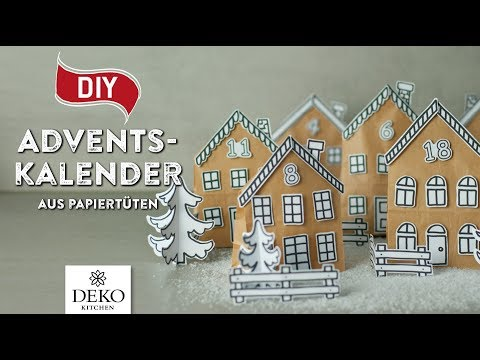 DIY: hübscher Adventskalender aus Papiertüten [How to] Deko Kitchen