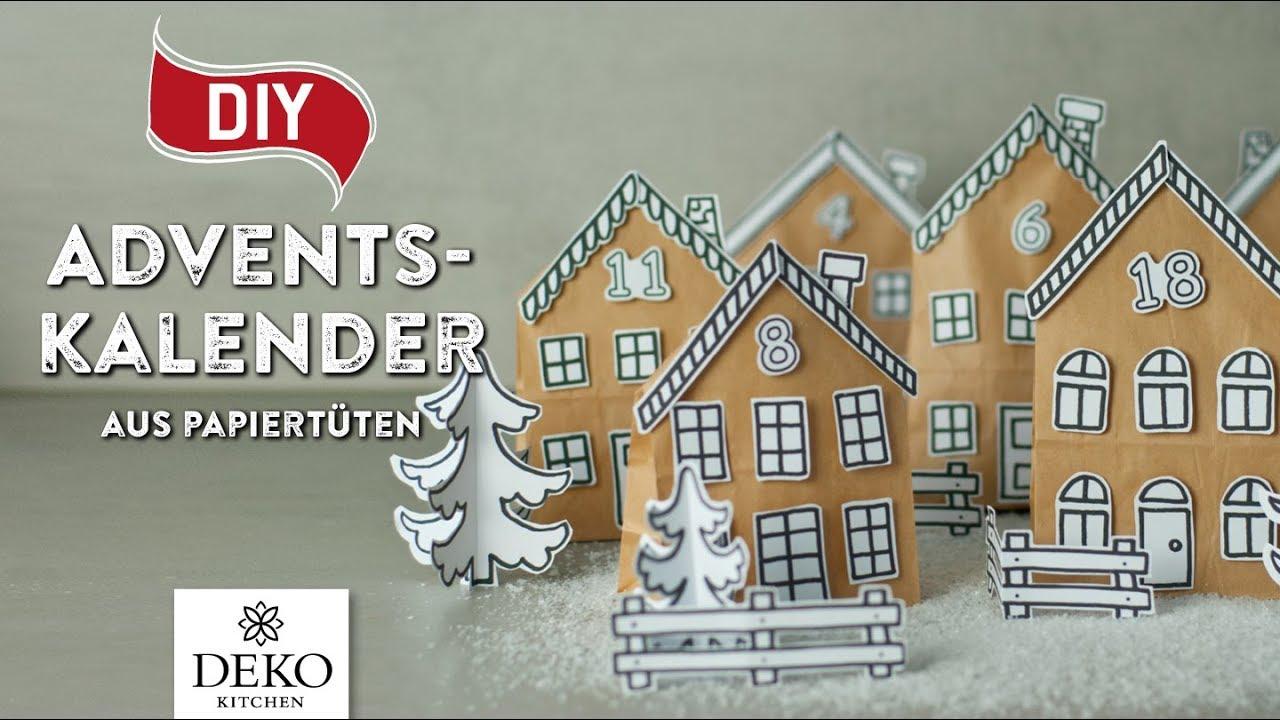 diy h bscher adventskalender aus papiert ten how to deko kitchen youtube. Black Bedroom Furniture Sets. Home Design Ideas