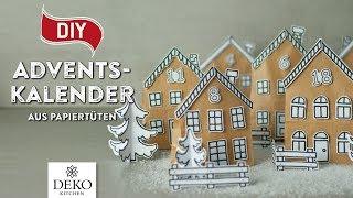 DIY: hübscher Adventskalender aus Papiertüten [How to] Deko Kitchen