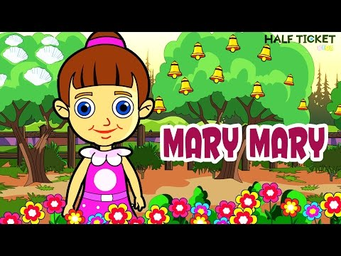 Mary Mary Quite Contrary | Nursery Rhymes And Kids Songs With Lyrics