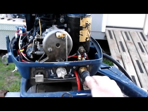 1972 25 Hp Evinrude Converted To Push Button Start YouTube